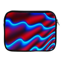 Wave Pattern Background Curve Apple Ipad 2/3/4 Zipper Cases