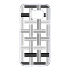 Seamless Stripe Pattern Lines Samsung Galaxy S7 Edge White Seamless Case