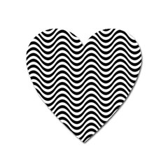 Wave Pattern Wavy Water Seamless Heart Magnet