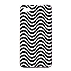 Wave Pattern Wavy Water Seamless Apple Iphone 4/4s Seamless Case (black) by Celenk