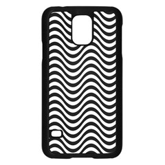 Wave Pattern Wavy Water Seamless Samsung Galaxy S5 Case (black) by Celenk