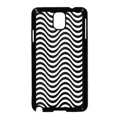 Wave Pattern Wavy Water Seamless Samsung Galaxy Note 3 Neo Hardshell Case (black) by Celenk