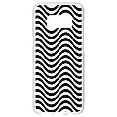 Wave Pattern Wavy Water Seamless Samsung Galaxy S8 White Seamless Case by Celenk