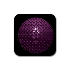 Sphere 3d Geometry Math Design Rubber Coaster (square)