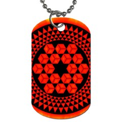 Geometry Maths Design Mathematical Dog Tag (two Sides)