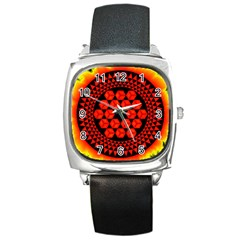 Geometry Maths Design Mathematical Square Metal Watch