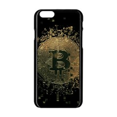 Bitcoin Cryptocurrency Blockchain Apple Iphone 6/6s Black Enamel Case by Celenk