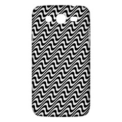 White Line Wave Black Pattern Samsung Galaxy Mega 5 8 I9152 Hardshell Case  by Celenk