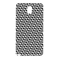 White Line Wave Black Pattern Samsung Galaxy Note 3 N9005 Hardshell Back Case by Celenk