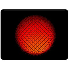 Sphere 3d Geometry Structure Fleece Blanket (large)  by Celenk