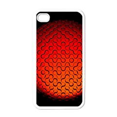 Sphere 3d Geometry Structure Apple Iphone 4 Case (white) by Celenk