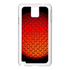 Sphere 3d Geometry Structure Samsung Galaxy Note 3 N9005 Case (white) by Celenk