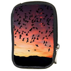 Sunset Dusk Silhouette Sky Birds Compact Camera Cases