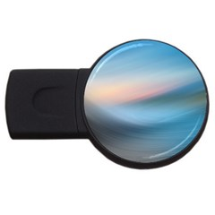 Wave Background Pattern Abstract Lines Light Usb Flash Drive Round (4 Gb)