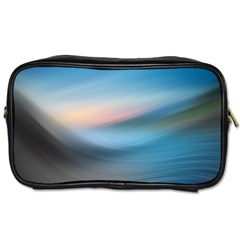 Wave Background Pattern Abstract Lines Light Toiletries Bags 2 Side