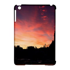 Sunset Silhouette Sun Sky Evening Apple Ipad Mini Hardshell Case (compatible With Smart Cover) by Celenk