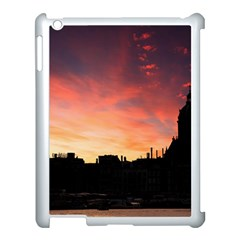 Sunset Silhouette Sun Sky Evening Apple Ipad 3/4 Case (white) by Celenk