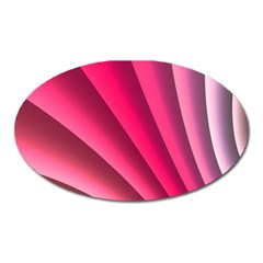 Wave Pattern Structure Texture Colorful Abstract Oval Magnet by Celenk
