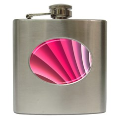 Wave Pattern Structure Texture Colorful Abstract Hip Flask (6 Oz) by Celenk