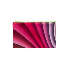 Wave Pattern Structure Texture Colorful Abstract Cosmetic Bag (xs)