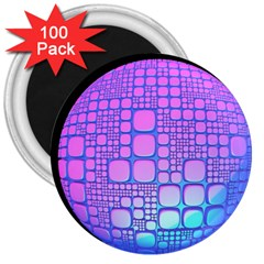 Sphere 3d Futuristic Geometric 3  Magnets (100 Pack)