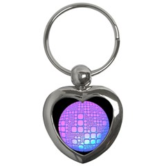 Sphere 3d Futuristic Geometric Key Chains (heart)