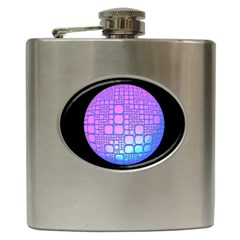 Sphere 3d Futuristic Geometric Hip Flask (6 Oz)