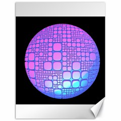 Sphere 3d Futuristic Geometric Canvas 18  X 24   by Celenk