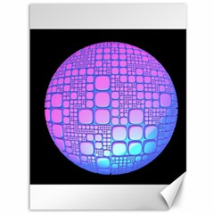 Sphere 3d Futuristic Geometric Canvas 36  X 48   by Celenk