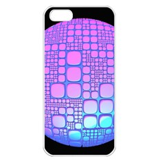 Sphere 3d Futuristic Geometric Apple Iphone 5 Seamless Case (white) by Celenk