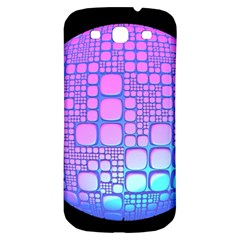 Sphere 3d Futuristic Geometric Samsung Galaxy S3 S Iii Classic Hardshell Back Case by Celenk