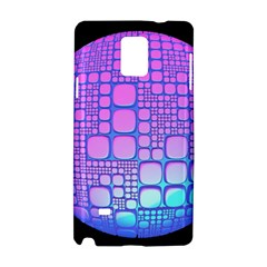 Sphere 3d Futuristic Geometric Samsung Galaxy Note 4 Hardshell Case by Celenk