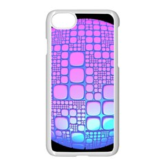 Sphere 3d Futuristic Geometric Apple Iphone 7 Seamless Case (white) by Celenk