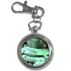 Futuristic Urban Architecture Key Chain Watches by Celenk