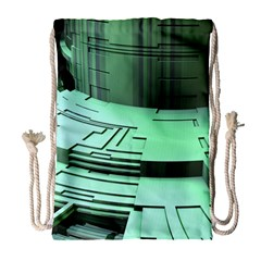 Futuristic Urban Architecture Drawstring Bag (large) by Celenk