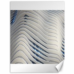 Aqua Building Wave Canvas 36  X 48