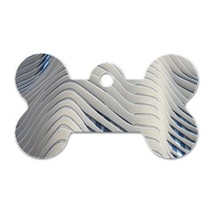 Aqua Building Wave Dog Tag Bone (one Side) by Celenk