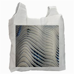 Aqua Building Wave Recycle Bag (one Side)
