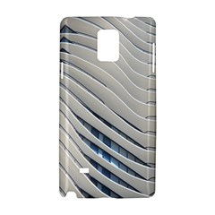 Aqua Building Wave Samsung Galaxy Note 4 Hardshell Case by Celenk