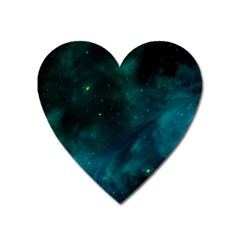 Green Space All Universe Cosmos Galaxy Heart Magnet