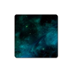 Green Space All Universe Cosmos Galaxy Square Magnet