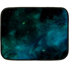 Green Space All Universe Cosmos Galaxy Double Sided Fleece Blanket (mini)  by Celenk