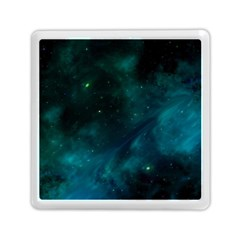 Green Space All Universe Cosmos Galaxy Memory Card Reader (square)
