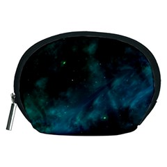 Green Space All Universe Cosmos Galaxy Accessory Pouches (medium)  by Celenk