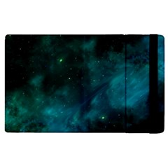 Green Space All Universe Cosmos Galaxy Apple Ipad Pro 12 9   Flip Case by Celenk
