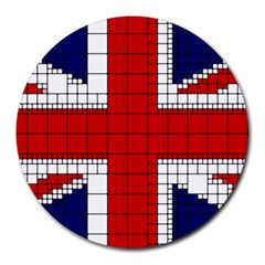 Union Jack Flag Uk Patriotic Round Mousepads by Celenk