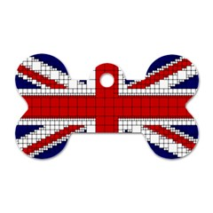 Union Jack Flag Uk Patriotic Dog Tag Bone (two Sides)