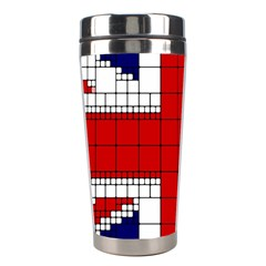 Union Jack Flag Uk Patriotic Stainless Steel Travel Tumblers by Celenk
