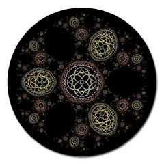 Background Pattern Symmetry Magnet 5  (round)