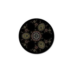 Background Pattern Symmetry Golf Ball Marker (4 Pack)